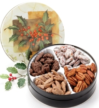 Fancy Flavored Pecans Sampler Tin