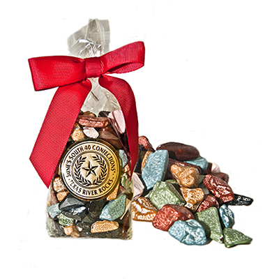 Texas River Rocks� in a 3oz or 7oz bag