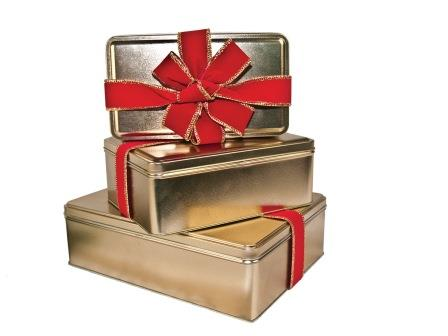 Texas Pecan Toffee Gold Gift Tin