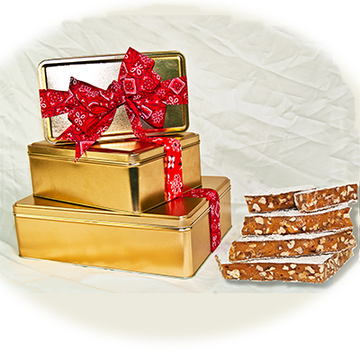 Gold Gift Tin filled with Planks or Bite size pieces