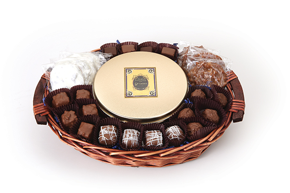 South 40 Sampler Basket with Toffee