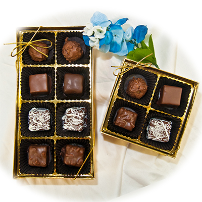 Assorted Chocolates in a Gold Gift Box