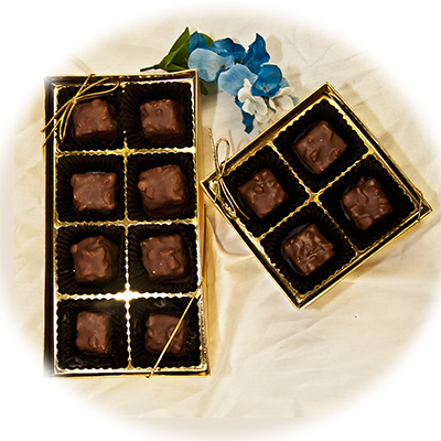 Our Winners� Carmels in a 4pc, or 8pc Gold Gift Box